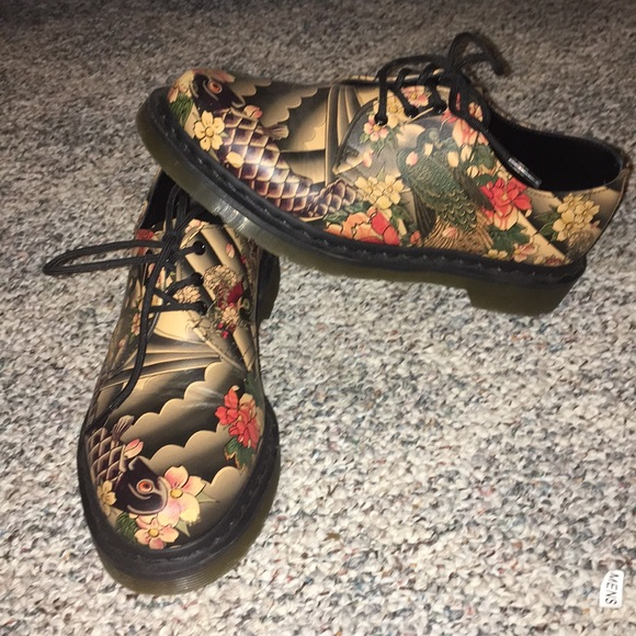 best wholesaler best prices store Dr.Martens Oxford Americana Tattoo print
